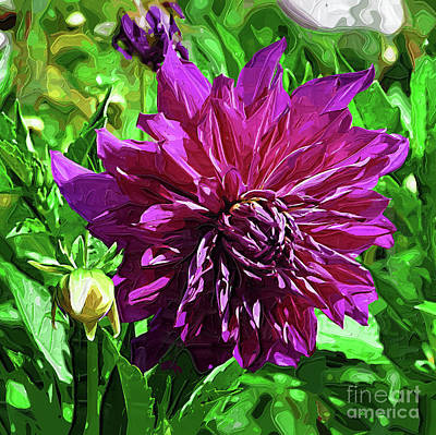 Digital Art - Purple Floral by Kirt Tisdale