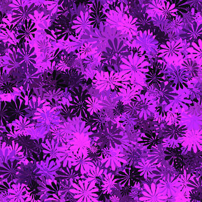 Digital Art - Purple Floral Pattern by Aimee L Maher Photography and Art Visit ALMGallerydotcom