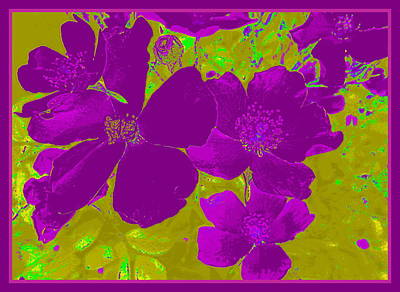 Digital Art - Purple Flower Abstract by Susan Lafleur