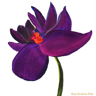 Painting - Purple Flower by Gina De Gorna