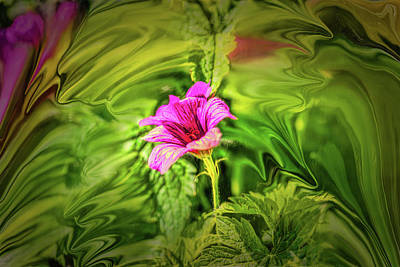 Digital Art - Purple Flower #h3 by Leif Sohlman