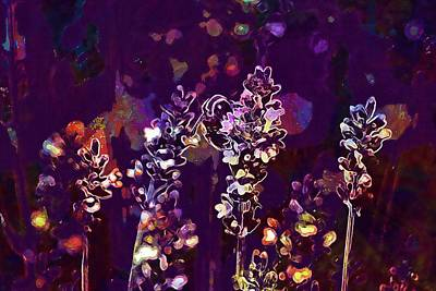 Digital Art - Purple Flower Lilac Blossom Bloom  by PixBreak Art