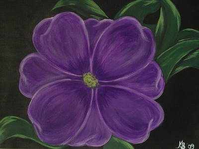 Painting - Purple Flower by Melanie Blankenship