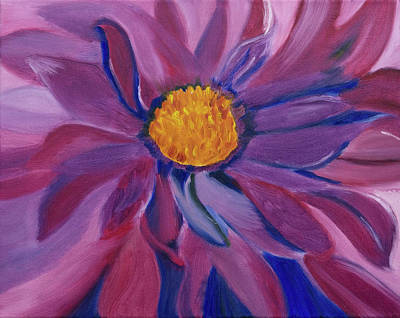 Painting - Blazing Petals by Meryl Goudey