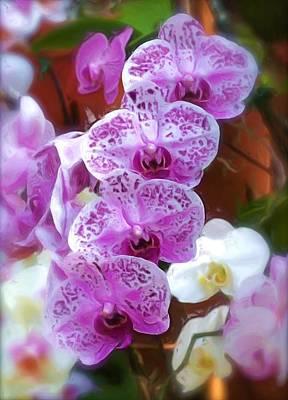 Purple Flower Art Print by Ralph Liebstein