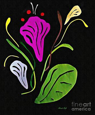 Abstract Flowers Mixed Media - Purple Flower by Sarah Loft