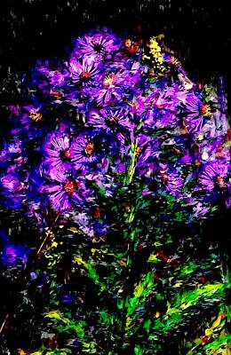 Photograph - Purple Flower Still Life by David Lane