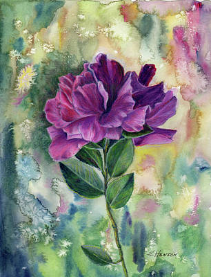 Painting - Purple Flower by Sue Henson