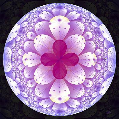 Digital Art - Purple Flower World by Lori Grimmett