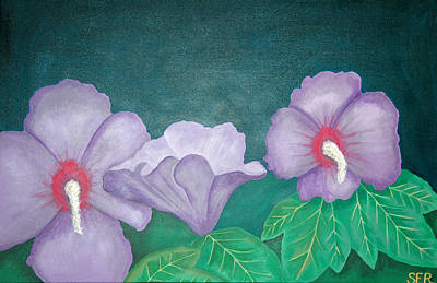 Rocca Painting - Purple Flowers Blooming by Sarah England-Rocca