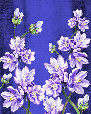 Royalty-Free and Rights-Managed Images - Purple Flowers Blue Sky by Irina Sztukowski