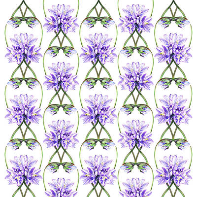 Painting - Purple Flowers Botanical Lace by Irina Sztukowski