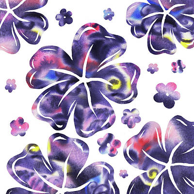 Painting - Purple Flowers Dance by Irina Sztukowski