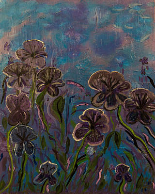 Arkansas Painting - Purple Flowers by Diann Blevins