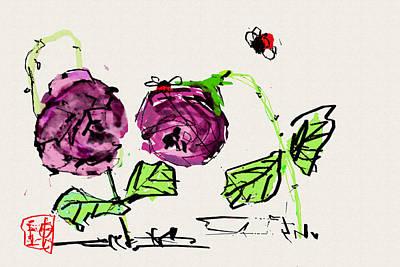 Digital Art - Purple  Flowers Grow by Debbi Saccomanno Chan