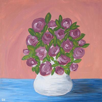 Painting - Purple Flowers by Iuliana O
