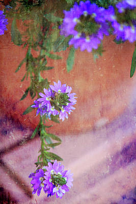 Photograph - Purple Flowers On The Porch by Toni Hopper