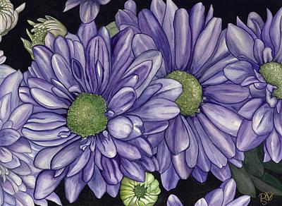 Psovart Painting - Purple Flowers by Patty Vicknair