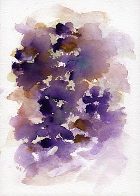 Painting - Purple Flowers by Rachel Christine Nowicki