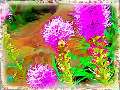 Digital Art - Purple Flowers by Rusty R Smith