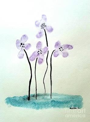 Purple Flowers Art Print by Scott D Van Osdol