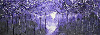Mixed Media - Purple Forest by Angela Stout