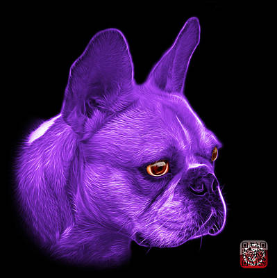 Painting - Purple French Bulldog Pop Art - 0755 Bb by James Ahn