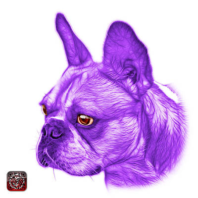 Painting - Purple French Bulldog Pop Art - 0755 Wb by James Ahn