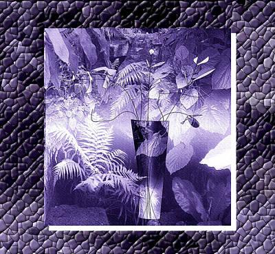 Digital Art - Purple Garden Vase by Iris Gelbart