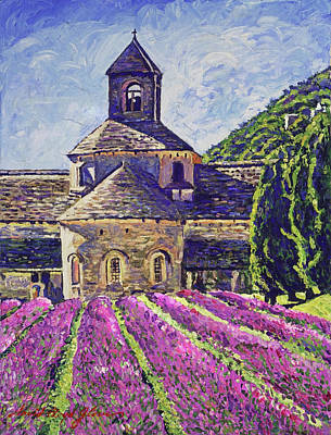 Impressionism Paintings - Purple Gardens Provence by David Lloyd Glover