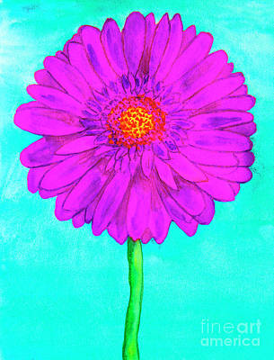 Purple Gerbera Art Print