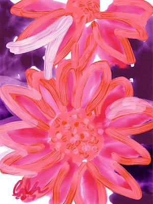 Purple Gerbers Art Print by Carl Griffasi