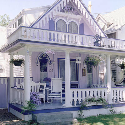 Purple Gingerbread House Art Print by Rose Martin