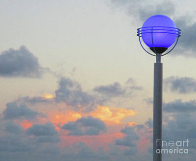 Photograph - Purple Globe At Sunset by Randall Weidner