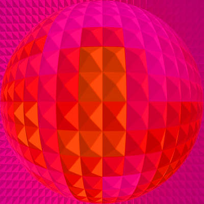 Gaia Digital Art - Purple Globe by Ramon Labusch