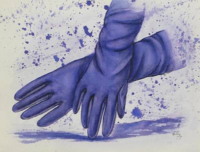 Painting - Purple Gloves by Kelly Mills