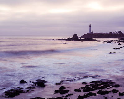 Waves Photograph - Purple Glow At Pigeon Point Lighthouse Alternate Crop by Priya Ghose