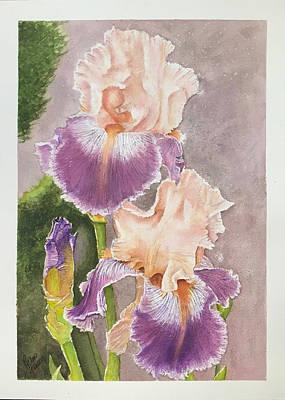 Painting - Purple Gold Iris by Richard Benson