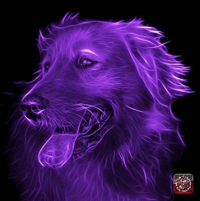 Digital Art - Purple Golden Retriever - 4057 Bb by James Ahn