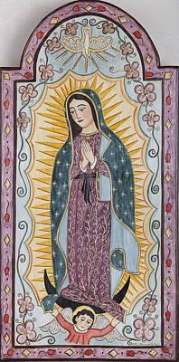 Purple Guadalupe Print by Ellen Chavez de Leitner