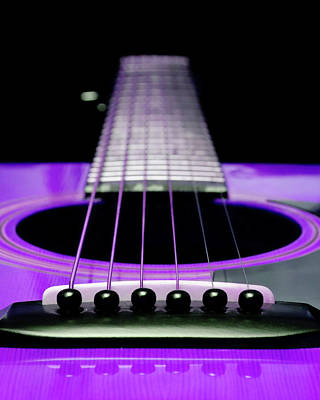 Purple Guitar 15 Art Print by Andee Design