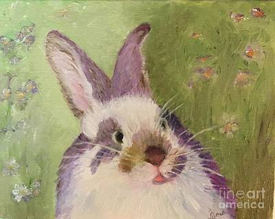 Painting - Purple Hare by Lucia Grilletto