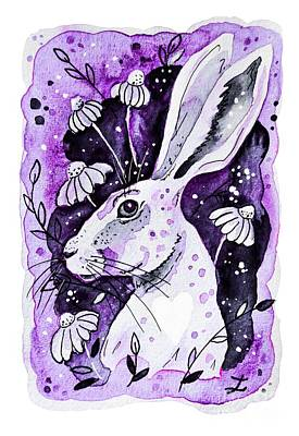 Painting - Purple Hare by Zaira Dzhaubaeva