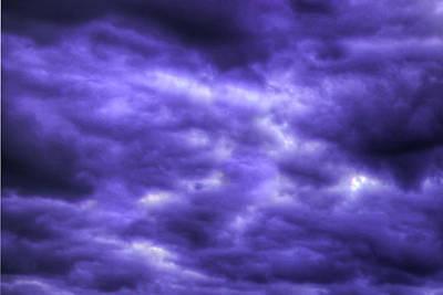 Photograph - Purple Haze Abstract Clouds Art by Reid Callaway