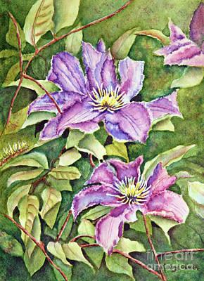 Purple Haze - Clematis Art Print