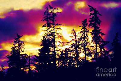 Art Print featuring the photograph Purple Haze Forest by Nick Gustafson