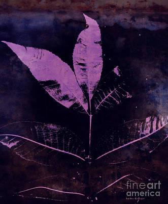 Purple Haze Leaves Print by Sandra Gallegos