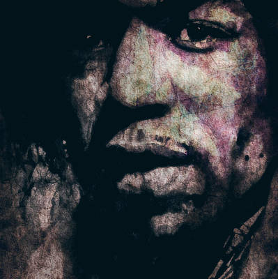 Jimi Painting - Purple Haze by Paul Lovering