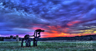 Purple Haze Sunrise The Iron Horse Art Print