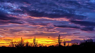 Photograph - Purple Haze Sunset Skies  by Saija Lehtonen